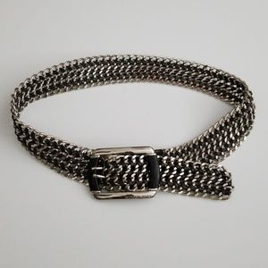 MICHAEL Michael Kors Metal and Leather Belt
